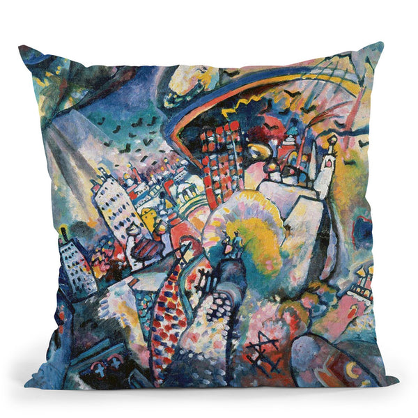 In Grey Throw Pillow By Wassily Kadinsky