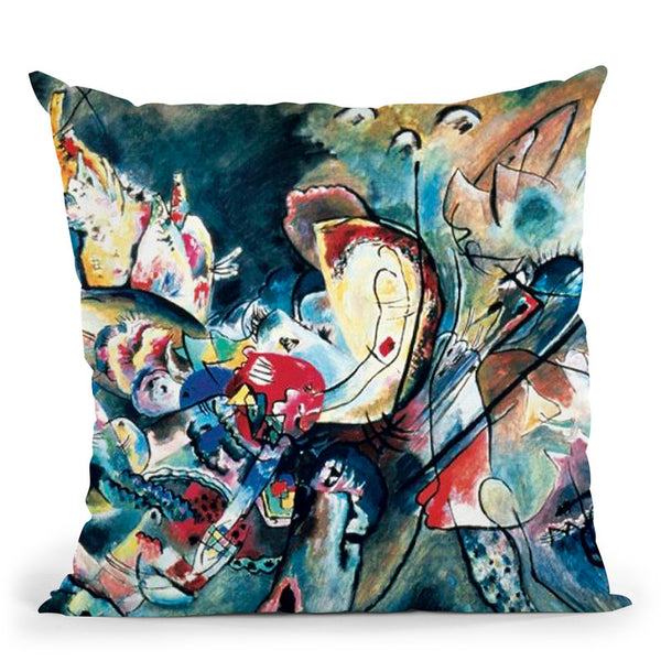 Murnau Street With Women Throw Pillow By Wassily Kadinsky