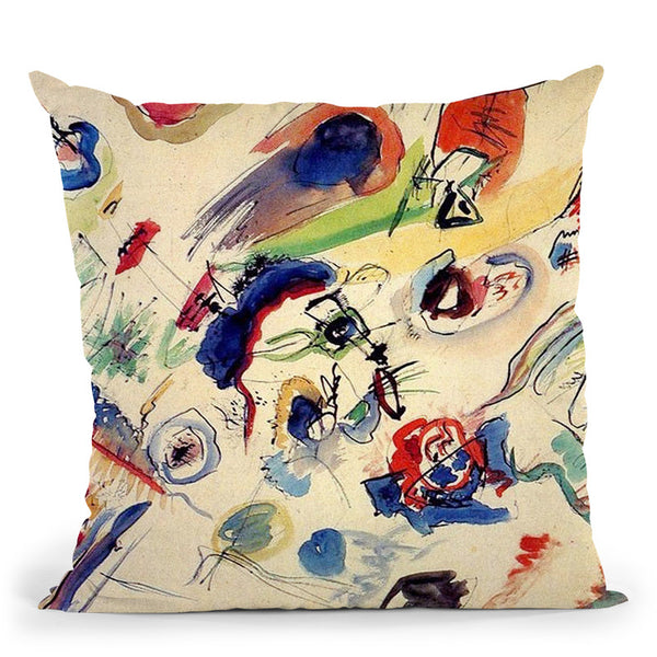 Several Circles Throw Pillow By Wassily Kadinsky