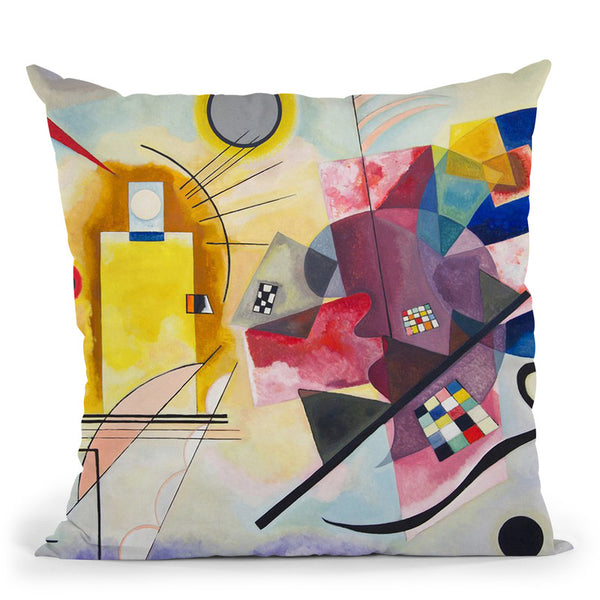 Sky Blue Throw Pillow By Wassily Kadinsky