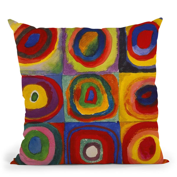Yellow-Red-Blue Throw Pillow By Wassily Kadinsky