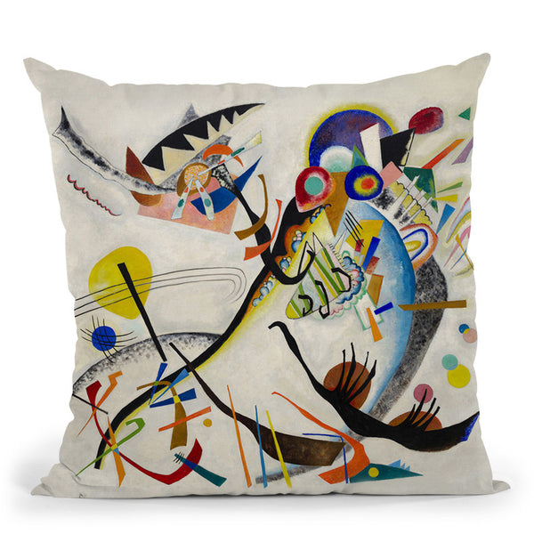 Blue Segment Throw Pillow By Wassily Kadinsky