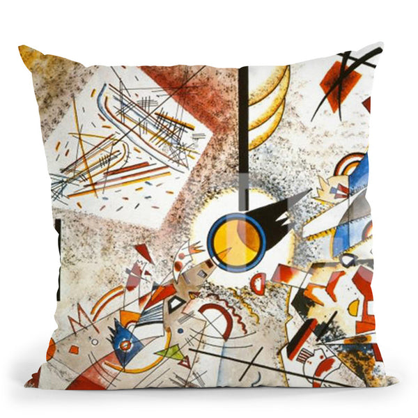 Bustling-Aquarelle Throw Pillow By Wassily Kadinsky