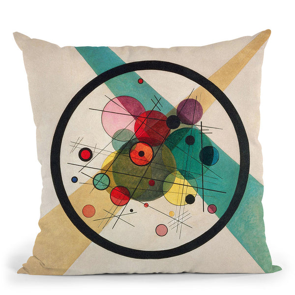 Circles In A Circle Throw Pillow By Wassily Kadinsky