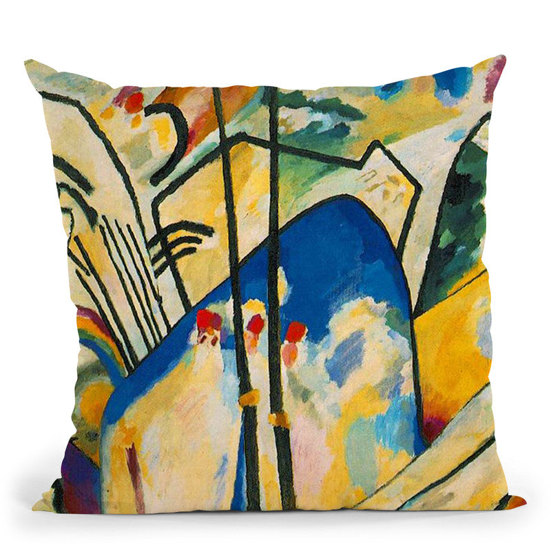 Color Study Squares With Concentric Circles Throw Pillow By Wassily Kadinsky