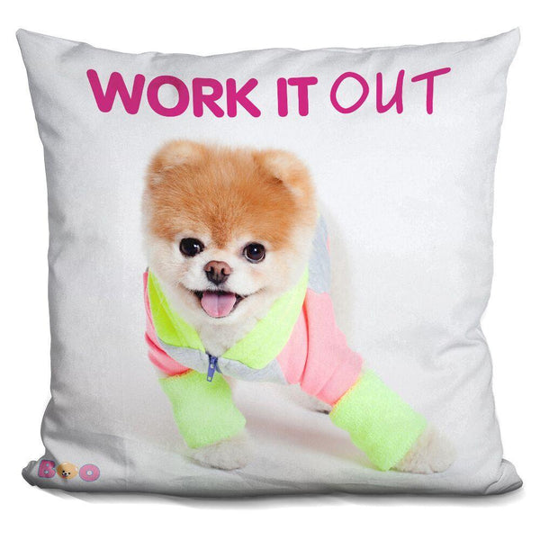 Boo Work It Out Throw Pillow