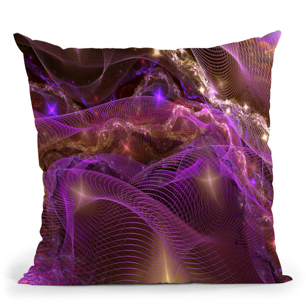 Fractal Comos I Throw Pillow By Yantart Designs