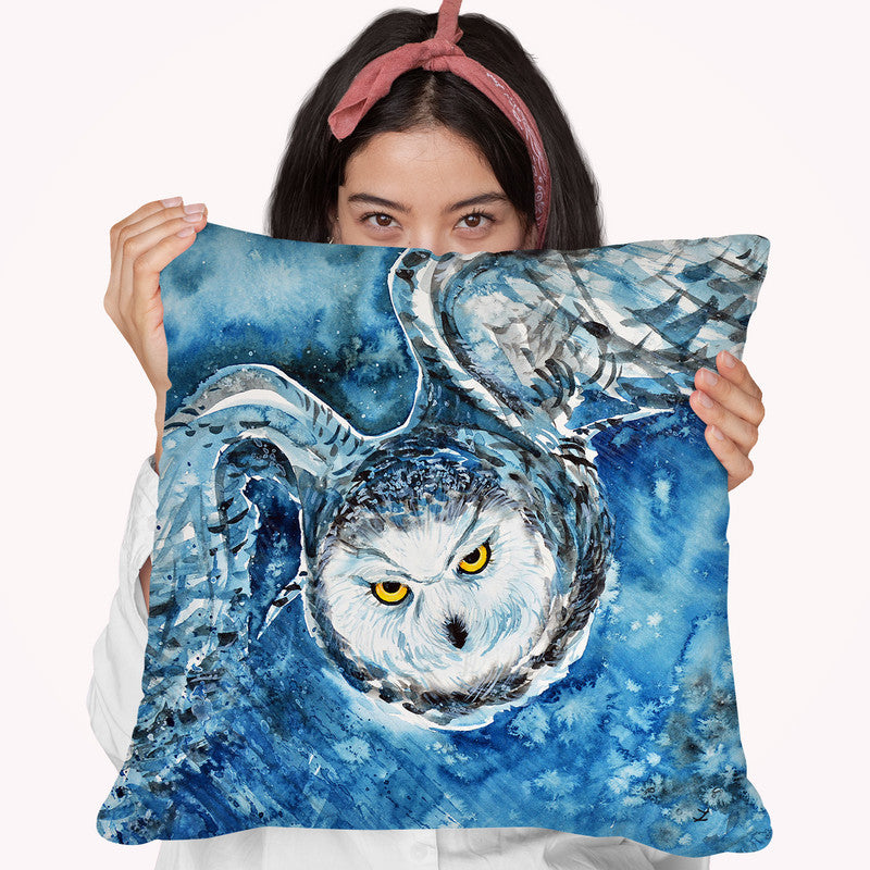 Tundra Hunter Watercolor Throw Pillow By Z Art Gallery