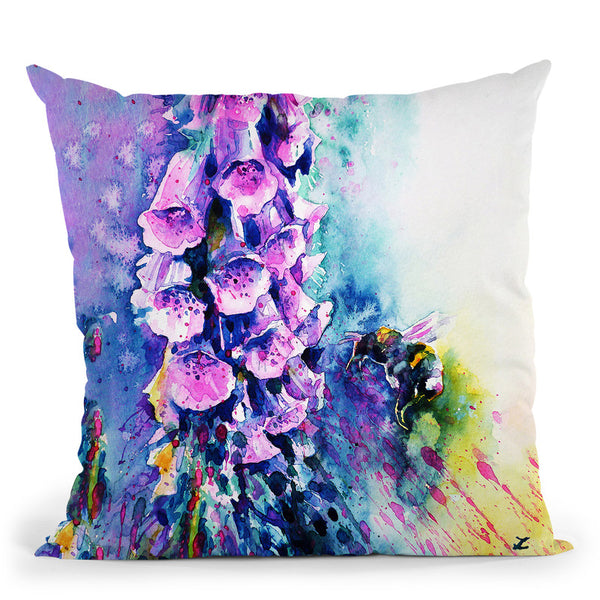 Bumblebee Meditation Watercolor Throw Pillow By Z Art Gallery