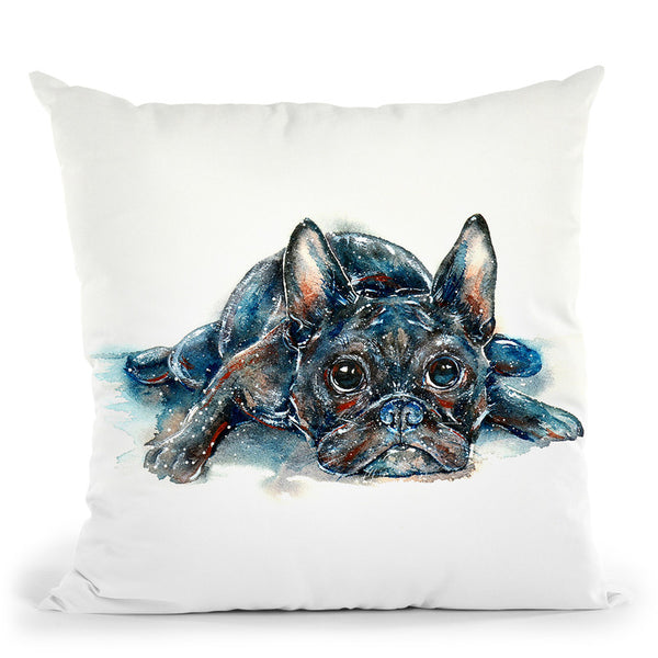 Dog Thoughts Throw Pillow By Z Art Gallery
