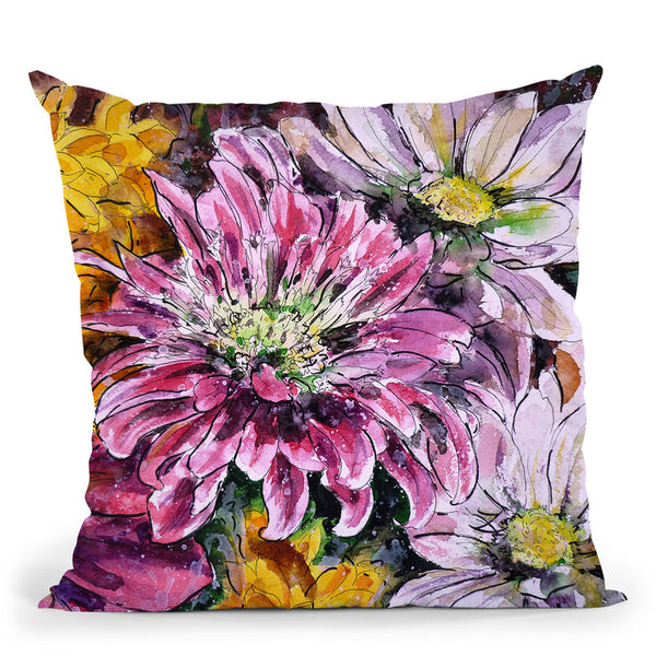 Flowers Of Love Throw Pillow By Z Art Gallery