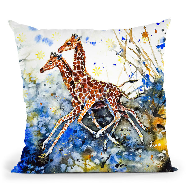 Golden Childhood Throw Pillow By Z Art Gallery