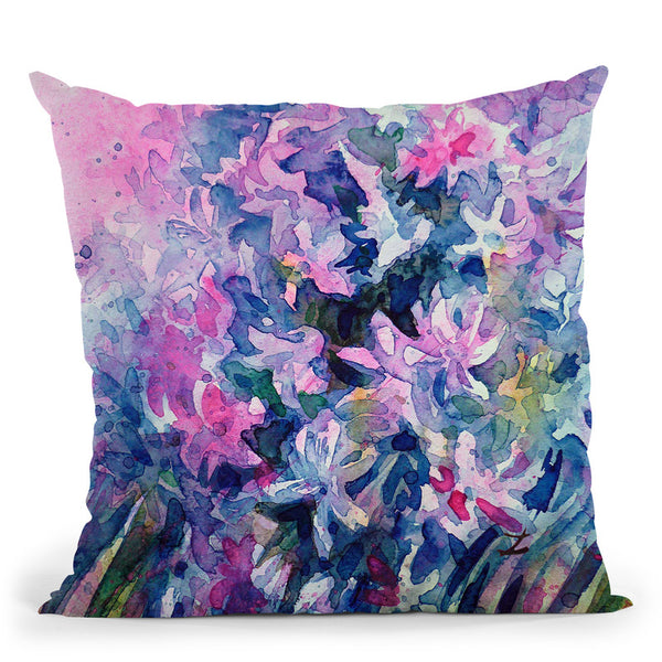 Hyacinths Watercolor Throw Pillow By Z Art Gallery