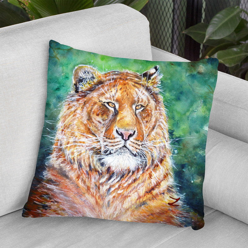 Liger Watercolor Throw Pillow By Z Art Gallery
