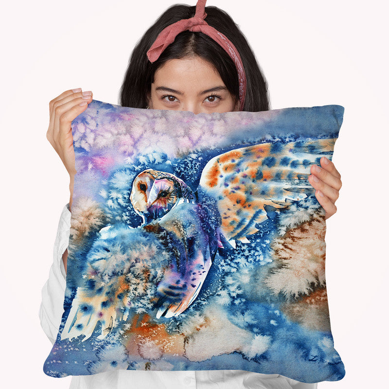 Look Back Watercolor Throw Pillow By Z Art Gallery
