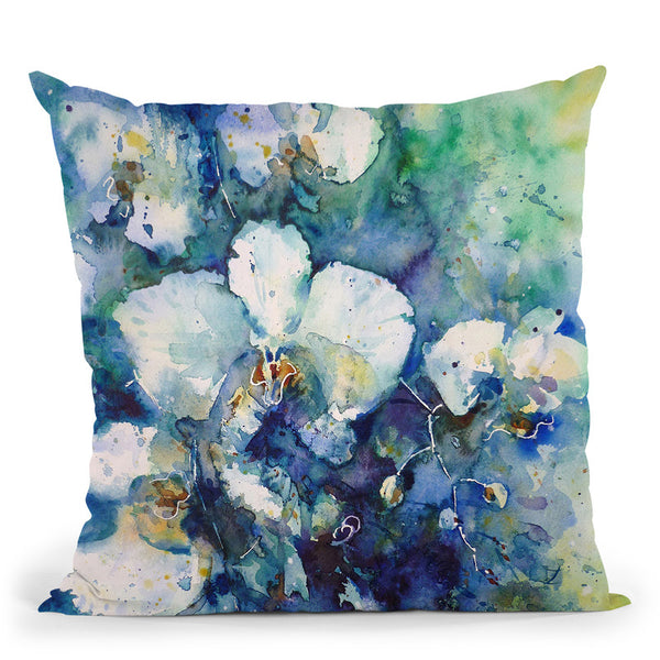 Orchids Throw Pillow By Z Art Gallery
