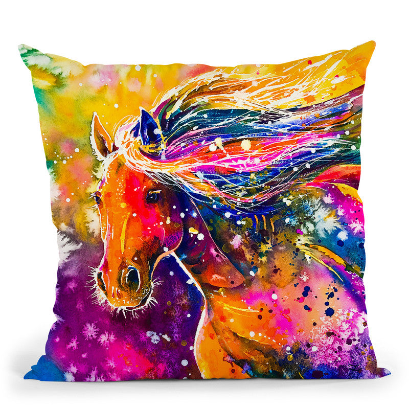 Beauty Of The Prairie Watercolor Throw Pillow By Z Art Gallery