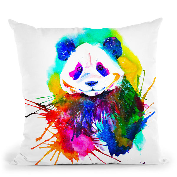 Panda Splash Throw Pillow By Z Art Gallery