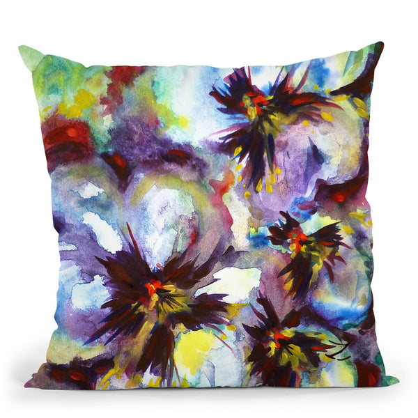 Pansies Watercolor Throw Pillow By Z Art Gallery