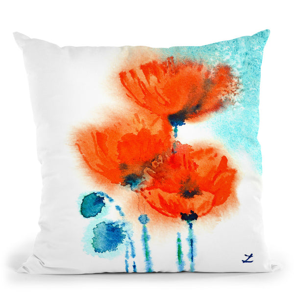 Poppy Symphony Throw Pillow By Z Art Gallery