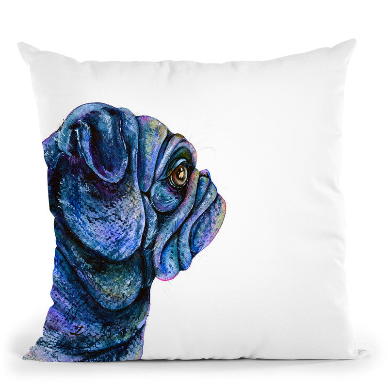 Black Pug Throw Pillow By Z Art Gallery