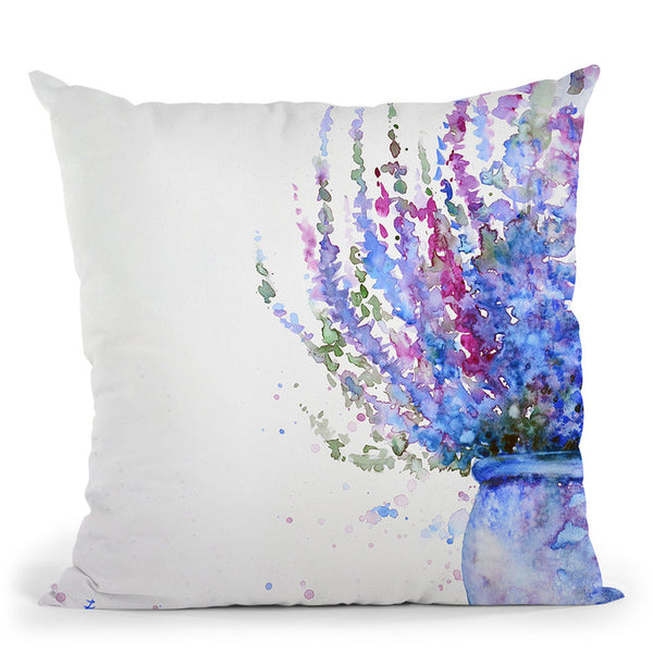 Purple Heather In The Pot Throw Pillow By Z Art Gallery