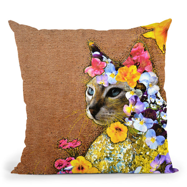 Queen Of The Garden Throw Pillow By Z Art Gallery