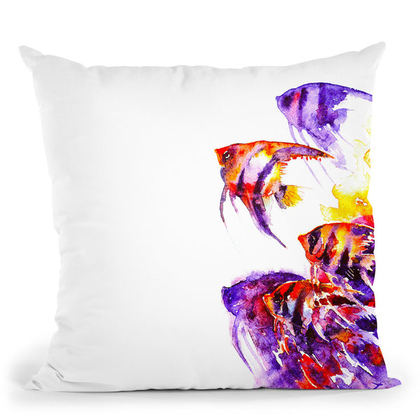 Scalare Flow Throw Pillow By Z Art Gallery