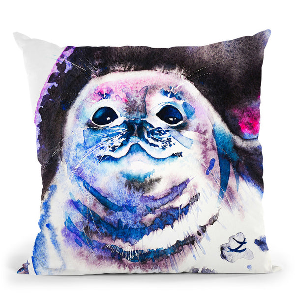 Seal Watercolor Throw Pillow By Z Art Gallery