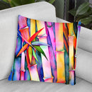 Seven Leaves Of Bamboo 2 Watercolor Throw Pillow By Z Art Gallery