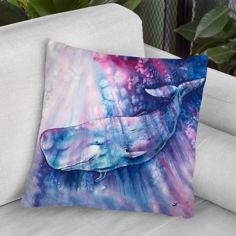 Smile Of Cachalot Throw Pillow By Z Art Gallery