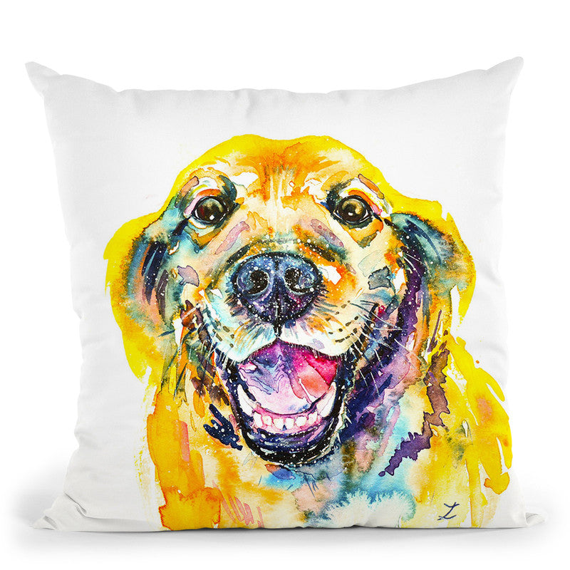 Smile Watercolor   Throw Pillow By Z Art Gallery