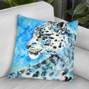 Snow Leopard Watercolor Throw Pillow By Z Art Gallery