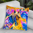 Sunset Mustang Throw Pillow By Z Art Gallery