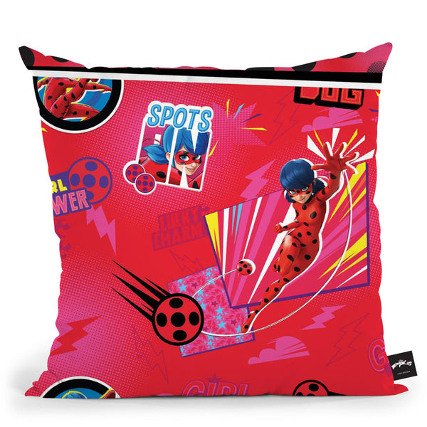 Ladybug Spots Throw Pillow By Miraculous