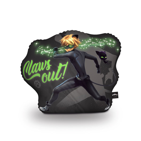 Claws Out Cat Noir Throw Pillow By Miraculous