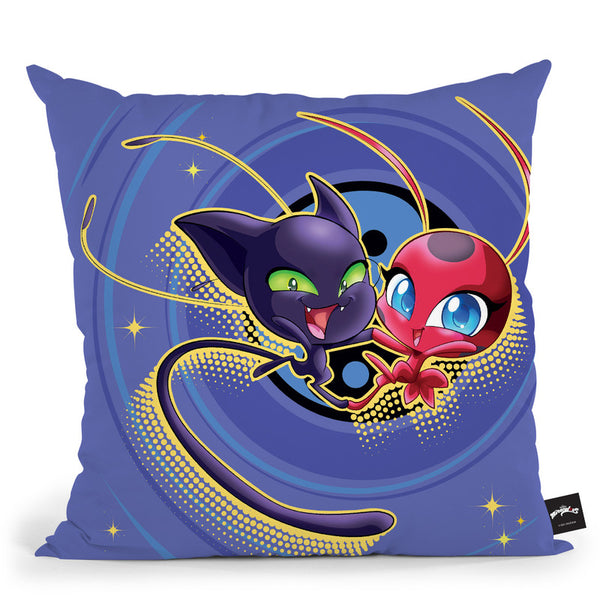 Tikki And Plagg Throw Pillow By Miraculous
