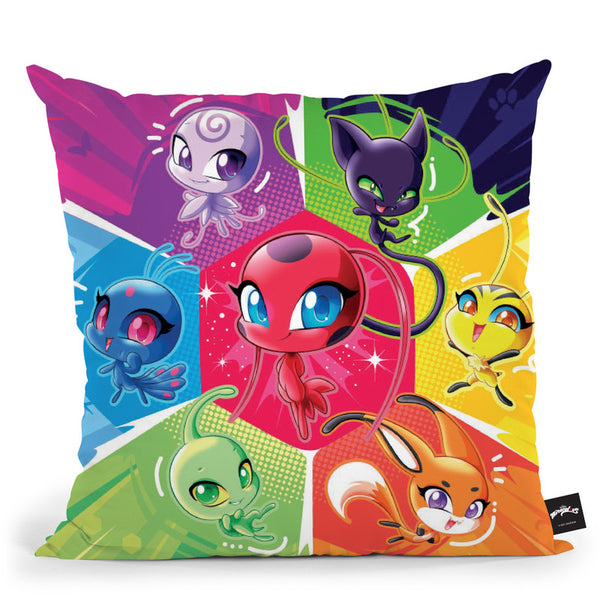 The Kwamis Throw Pillow By Miraculous