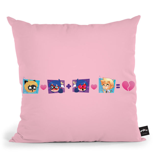 Ladybug Cat Noir Chat Throw Pillow By Miraculous