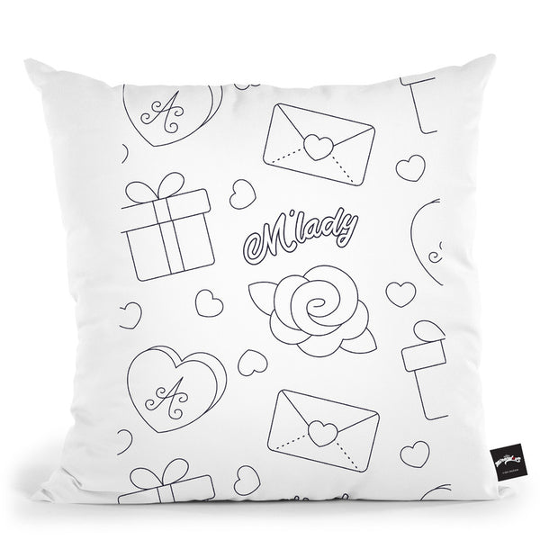 M'Lady Throw Pillow By Miraculous