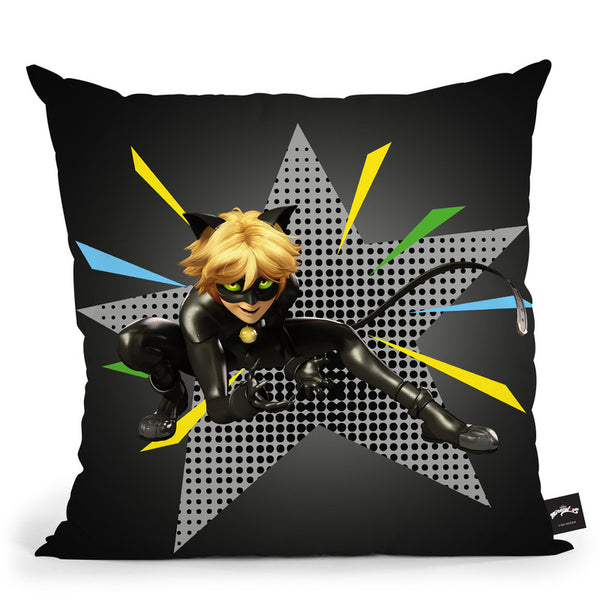Cat Noir Pose Throw Pillow By Miraculous