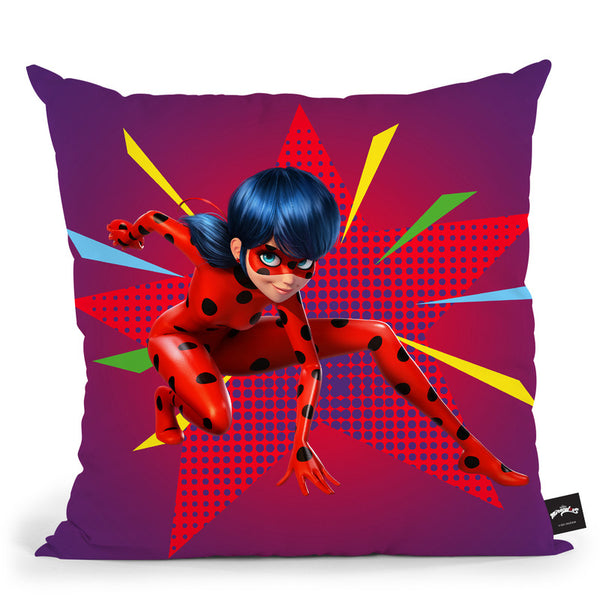 Ladybug Pose Throw Pillow By Miraculous