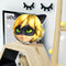 Cat Noir Head Throw Pillow By Miraculous