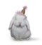 Very Fat Rabbit Party Hat Throw Pillow