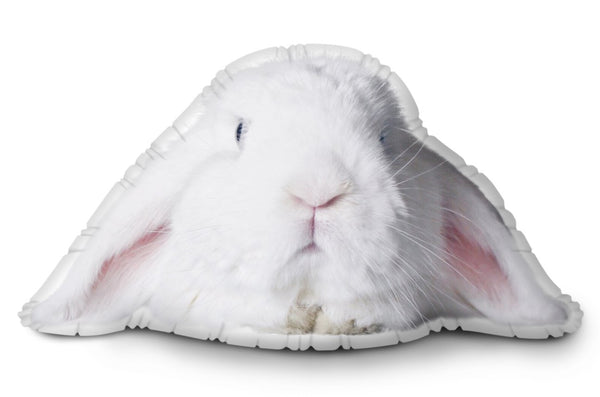 Very Fat Rabbit Face Throw Pillow