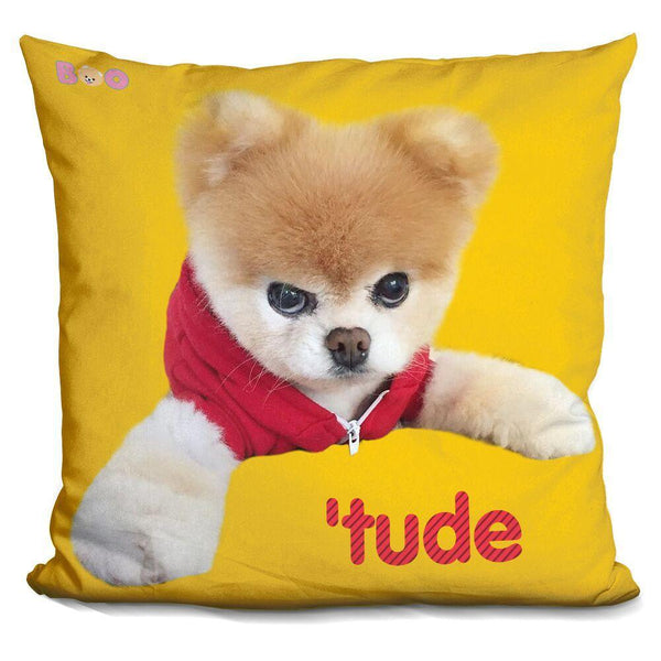 Boo Tude Throw Pillow