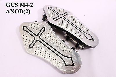 BILLET FOOT BOARD FLOORBOARDS PASSENGER REAR 4 HARLEY TOURING FL SOFTAIL BLACK
