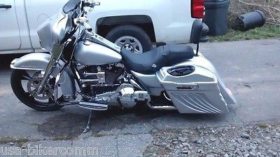 "Bagger 4"" Stretched Extended Saddlebags Lids  Harley Touring Softail Led 97-13"