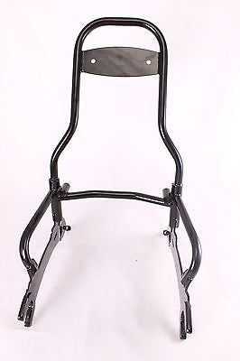 "Talon Billets - Y59 BLACK BLACK QUICK RELEASE PASSENGER BACKREST 22"" 4 INDIAN CHIEF CLASSIC VINTAGE 14-17"