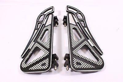 Talon Billets - Billet Foot Board Footboards Floorboards Harley Touring Fl Softail 80-13
